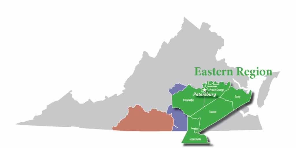 map of eastern region
