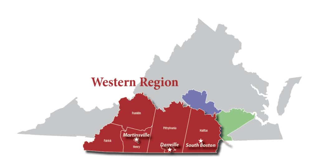 map of western region