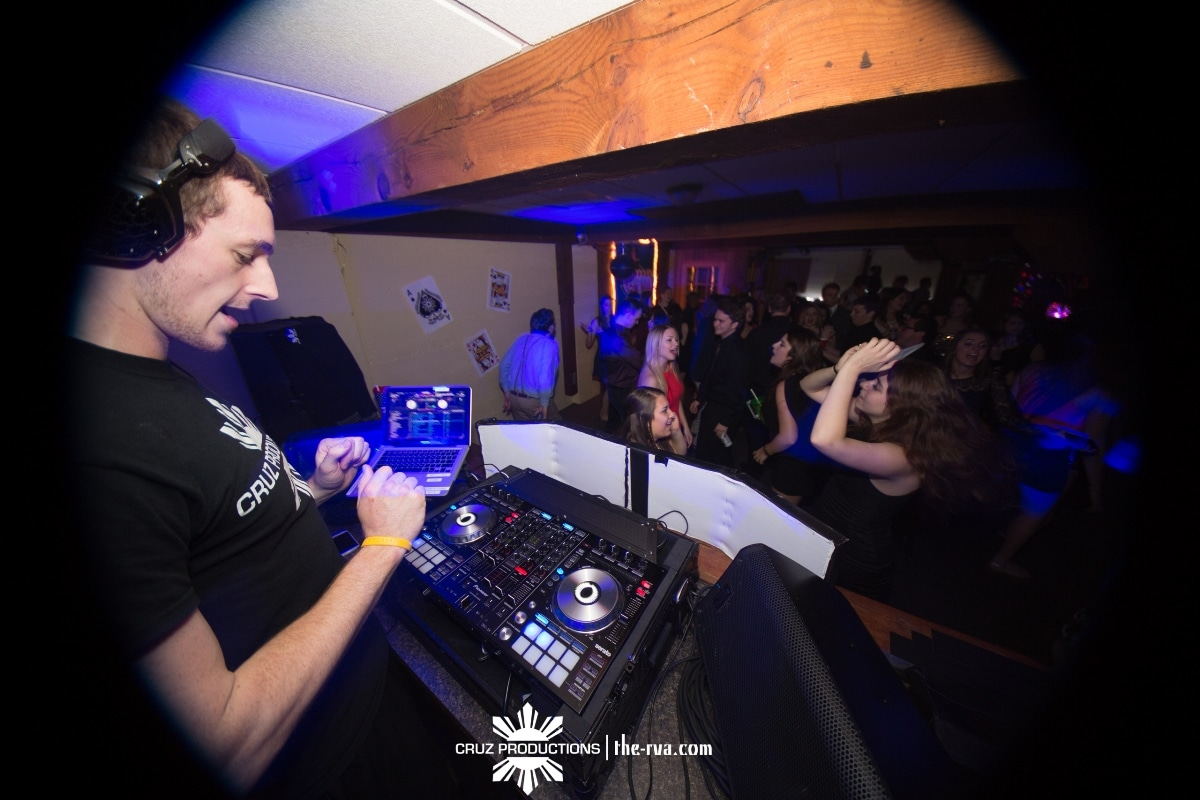 Joel Cruz DJing a Party