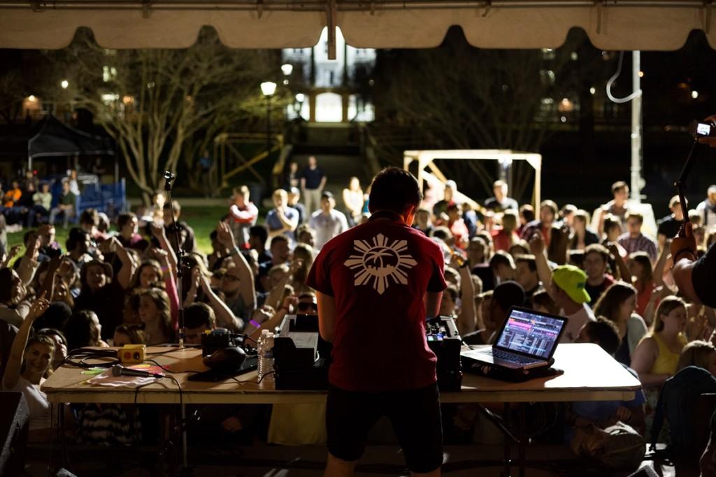 DJ with Crowd