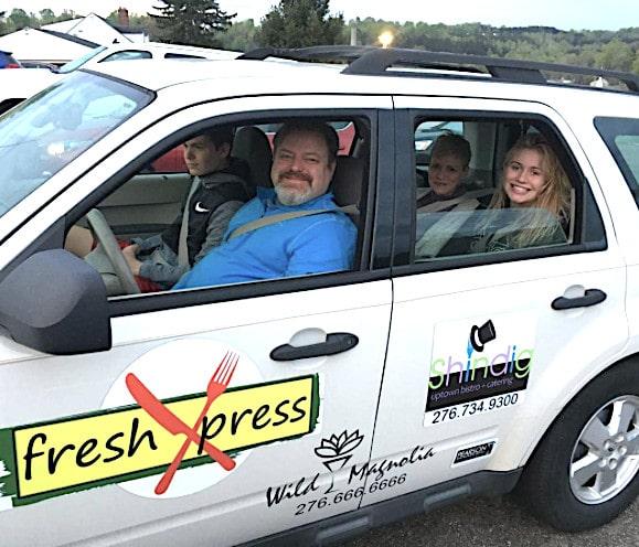 Will Pearson in car