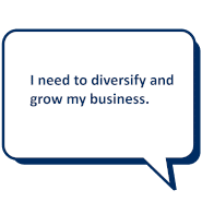 I need to diversify and grow my business.